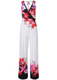 Ghost  view Floral Print Jumpsuit