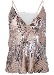 Ghost  view Sequin Detail Top