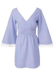 Ghost  view Stripe Seersucker Dress