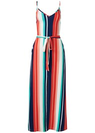 Ghost  view Stripe Maxi Dress