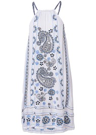 Ghost  view Paisley Embroidered Dress