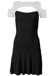 Ghost  view Cold Shoulder Casual Dress