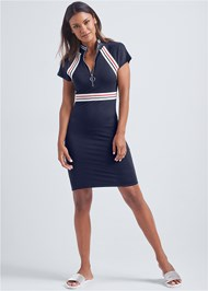 Alternate View Zip Front Lounge Dress