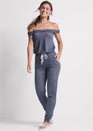 Full front view Off The Shoulder Jumpsuit