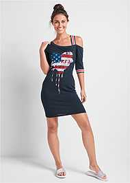 Full front view Graphic Lounge Dress