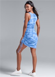 Full back view Tie Dye Lounge Tank Dress