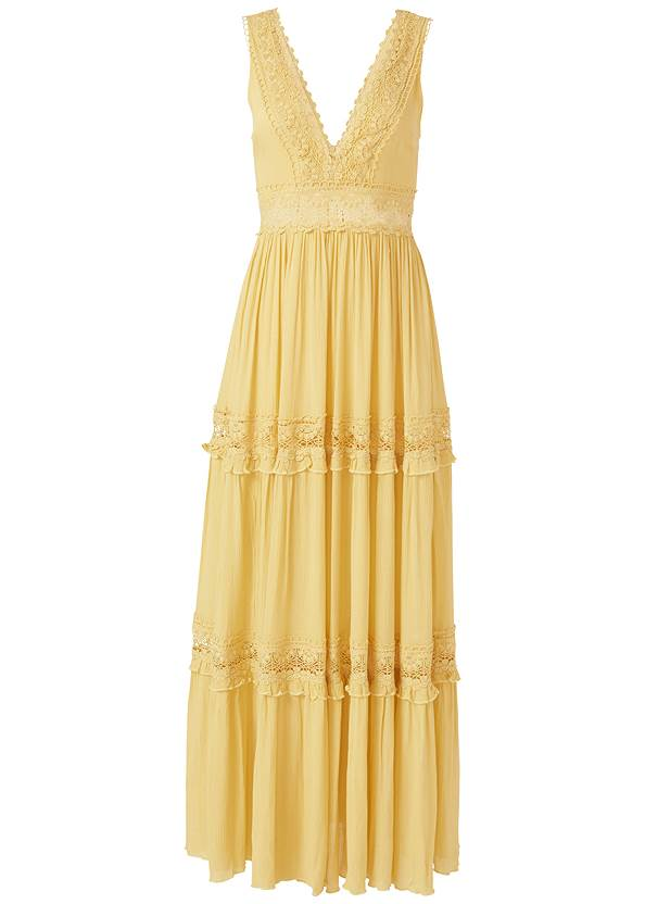 Ghost  view Tiered Maxi Dress