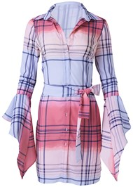 Ghost  view Ombre Plaid Dress