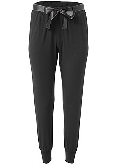 plus size belted sleep pants