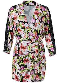 Alternate View Floral Print Robe