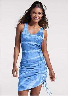 tie dye lounge tank dress
