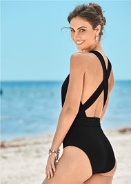 Back View Heather One-Piece