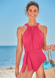 Front View Heather One-Piece