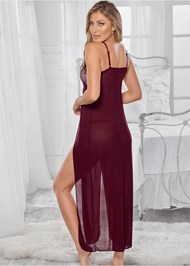 Back View Lace Detail Gown And Panty