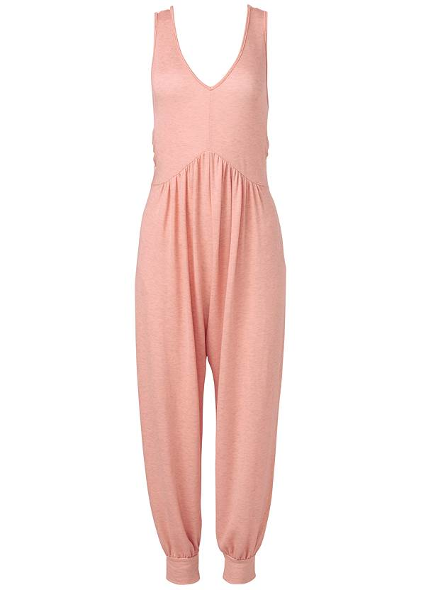 Easy Lounge Jumpsuit,Double Strap Printed Sandal