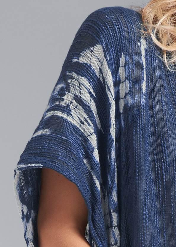 Detail front view Indigo Tie Dye Kimono