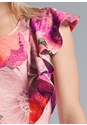 Detail front view Floral Lace Ruffle Dress
