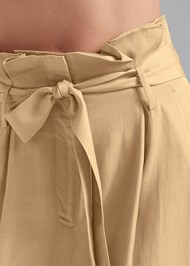 Detail front view Paperbag Waist Pants