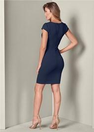Back View Trim Detail Bodycon Dress