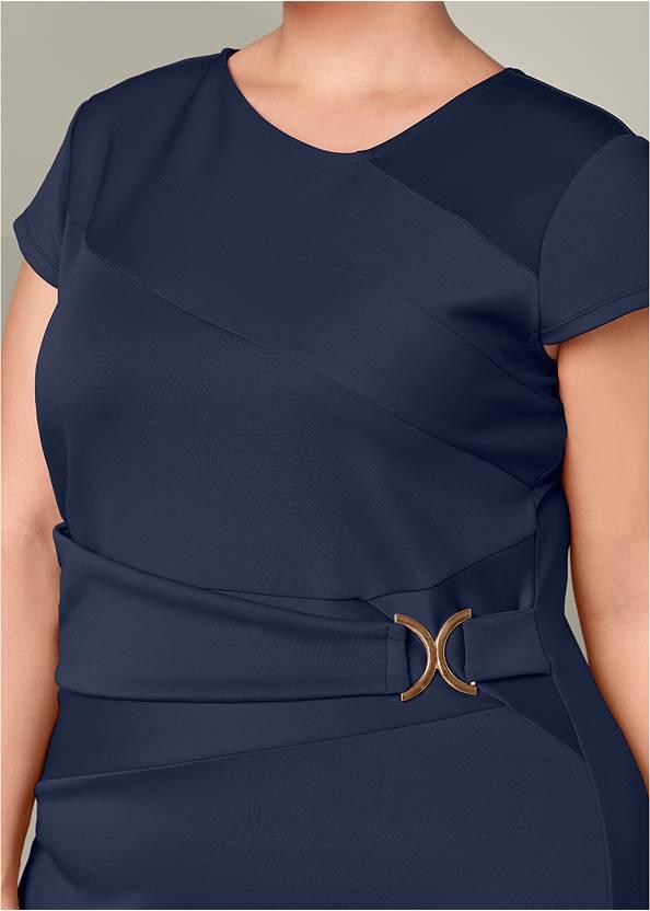 Alternate View Trim Detail Bodycon Dress