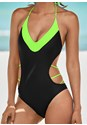 Detail front view Color Block Monokini