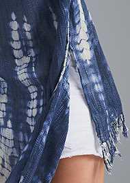Detail back view Indigo Tie Dye Kimono