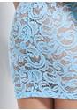 Detail back view Puff Sleeve Lace Mini Dress