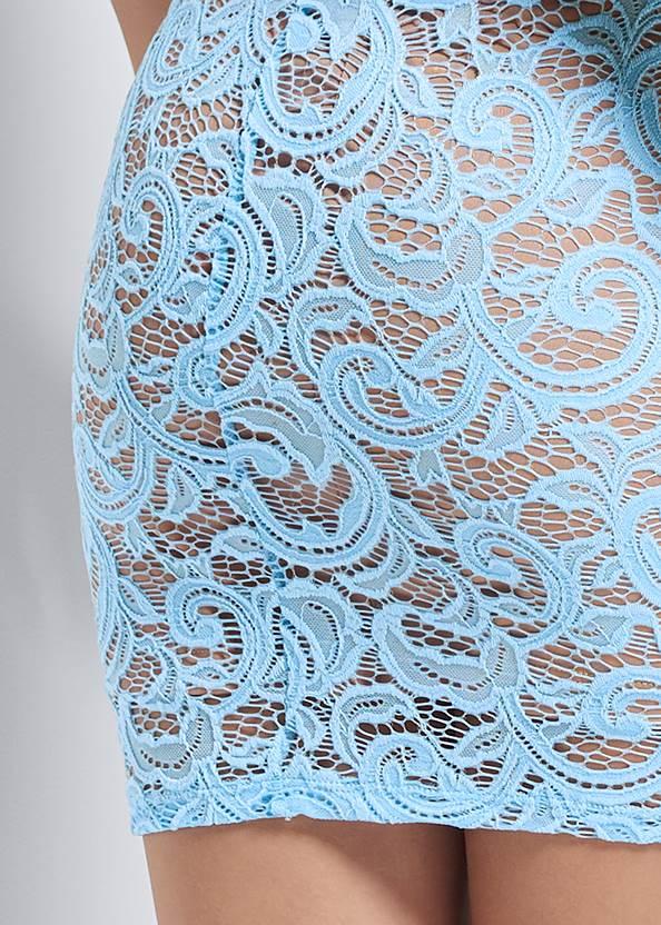 Alternate View Puff Sleeve Lace Mini Dress