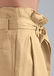 Detail side view Paperbag Waist Pants