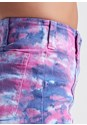 Detail side view Tie Dye Denim Shorts