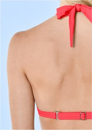 Detail back view Marilyn Underwire Push Up Halter Top