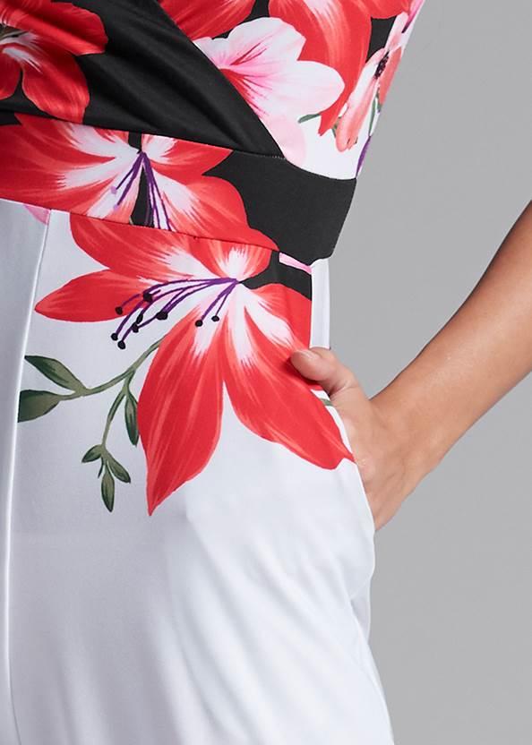 Detail front view Floral Print Jumpsuit