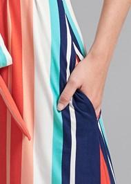 Detail front view Stripe Maxi Dress