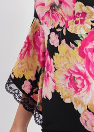 Detail front view Floral Cold Shoulder Dress