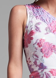 Detail front view Floral Metallic Dress