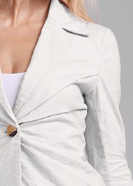 Detail front view Linen Suit Set
