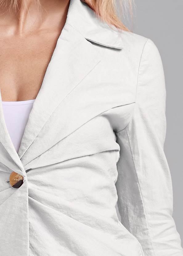 Detail front view Linen Suit Set