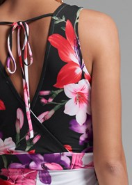 Detail back view Floral Print Jumpsuit