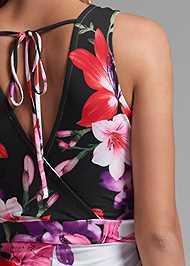 Detail back view Floral Print Jumpsuit