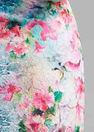 Detail back view Floral Lace Dress