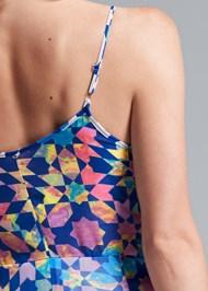 Detail back view Tile Print Dress