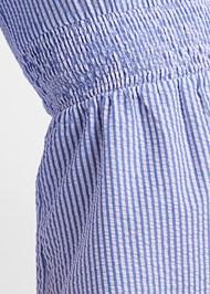 Detail front view Stripe Seersucker Dress