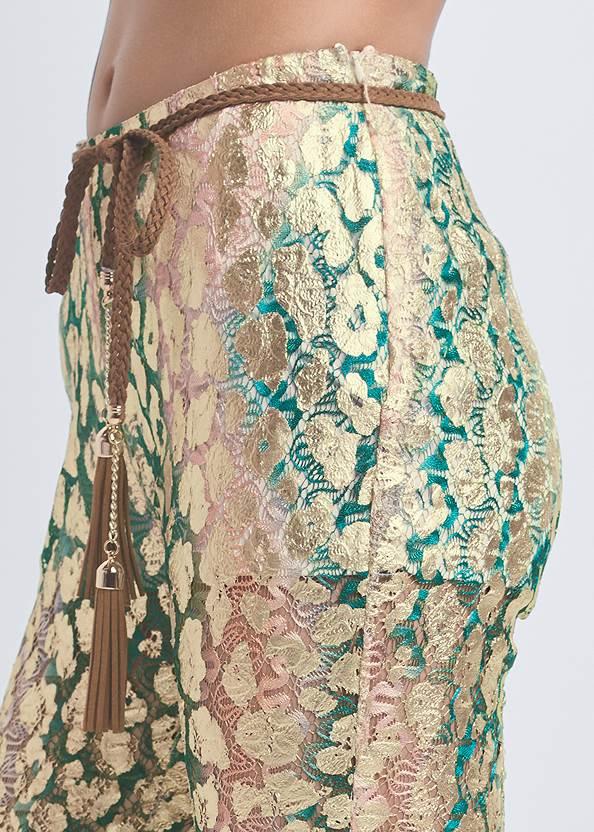 Detail side view Metallic Lace Pants