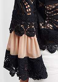 Detail front view Crochet Lace Up Top