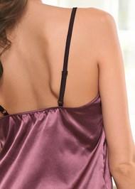 Detail back view Lace Detail Short Set