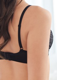 Detail back view Unlined Geo Lace Bra