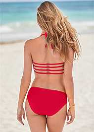 Back View Mid Rise Strappy Bottom
