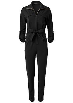 plus size pocket utility jumpsuit