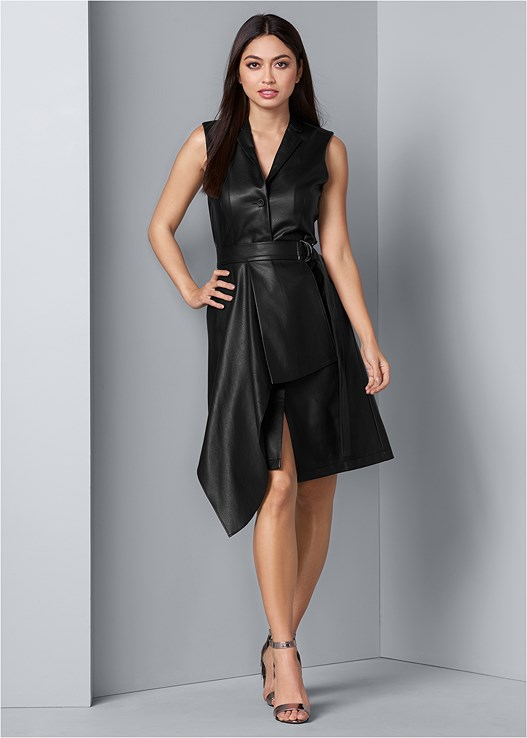FAUX LEATHER WRAP DRESS,PUSH UP BRA BUY 2 FOR $40