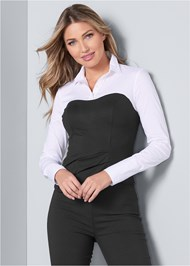 Front View Twofer Blouse